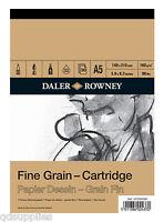 A5 DALER ROWNEY FINE GRAIN CARTRIDGE SKETCH PAD 160gsm ARTIST TEXTURED PAPER