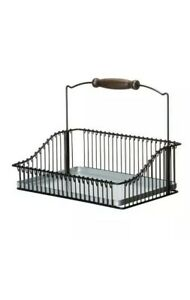 Steel Wire Basket With Handle 102.381.48, 7.75-Inch, Black