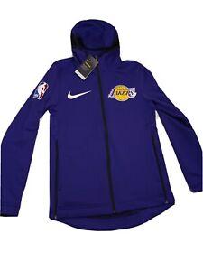 New Men's Nike NBA LA Lakers Therma-Flex Showtime Hoodie Sz Small 940136 504
