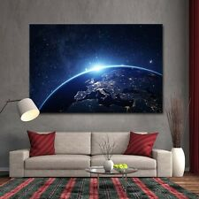 Earth From Space Wall Art Landscape Galaxy Canvas Print Paint Home Decor Large