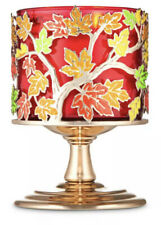 New Bath & Body Works  COLORED LEAVES PEDESTAL MULTI WICK CANDLE HOLDER
