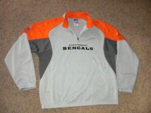 CINCINNATI BENGALS zip neck Authentic Sideline style Sweatshirt men's L Reebok