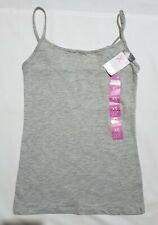 Primark Ladies Women Stretch Cami Vest Nude Black Strap Top Size 4-24 XS-XXL NEW
