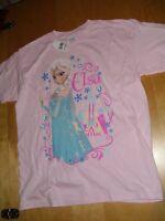 Disney Frozen Elsa Pink Tee Top girls nwt sz L