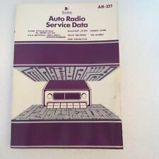 Sams AR-331 Auto Radio Service Data 1982 1st Edition Description has Models