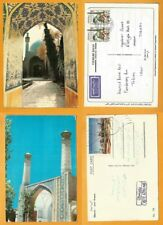 MOSQUE MIDDLE EAST IRAN PERSIA 2 POSTCARDS MOSQUE STAMP ISFAHAN -GHAZVIN MOSQUE