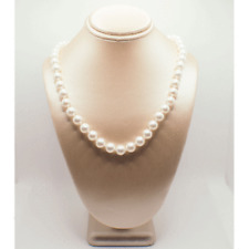 Akoya White Culture Pearl Necklace 18""