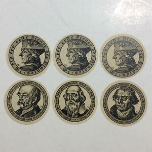 LOT 6 X Germany 50 , 75 Pfennig 1921 Seriennotgeld Notgeld Banknotes