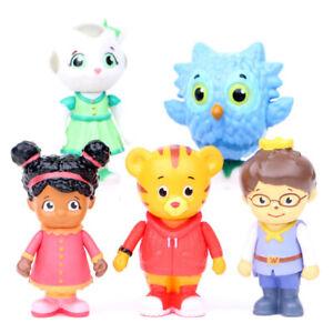 Daniel Tiger's Neighborhood 5 PCS Action Figure Kids Toy Gift Cake Topper Decor