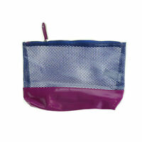 Saks Fifth Avenue 'Mesh texture Blue And Pink' Cosmetic Bag New