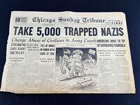 Take 5000 Trapped Nazis Dewey GOP 1944 Old Newspaper Chicago Tribune Jul 2