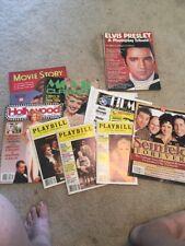 Posten Of 9 Entertainment Zeitschriften Vintage Elvis, Seinfeld Playbills,
