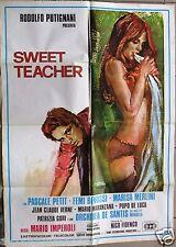 Sweet Teacher {Pascale Petit} Original Lebanese Movie Poster 70s