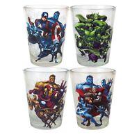 NEW NIB Marvel Avengers Glassware Collectors Set, 4 Shot Glasses cups 1.5 ounces