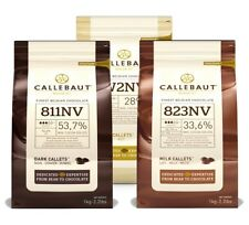 SET OF CALLEBAUT CHOCOLATE 1KG - DARK, MILK, WHITE - SPECIAL PRICE