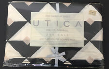 COLLIER CAMPBELL Utica Pharaoh Twin Flat Bed Sheet Vintage 90s New