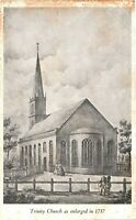 Vintage Postcard - Trinity Church Broadway And Wall Street New York NY #4423