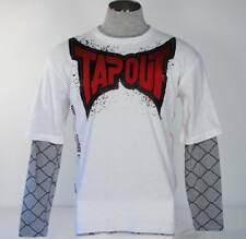 TapOut White Layered Sleeve Tee Shirt Youth Boy's Extra Large XL 18-20 NWT