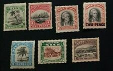 NIUE 1920 0.5d to 1s  SG 38 - 43 Sc 35 - 10  set 6 MLH/MH