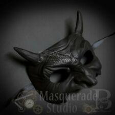 Men's Goblin Half Face Halloween Costume Party Masquerade Ball Mask [Black]