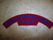 Royal New Brunswick Regiment Cloth Shoulder Patch / Flash - Canada
