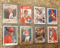 (8) Todd Zeile 1989 1990 Upper Deck Fleer Donruss Topps Score Rookie card lot RC