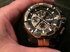 RENATO MOSTRO BLACK/GOLD 7750 VALJOUX SWISS AUTOMATIC CHRONOGRAPH WATCH L.E. 50