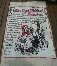Green 3 Large Throw - Little Red Riding Hood