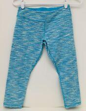 Ivivva By Lululemon Girls 14 Yoga Athletic Capri Pants Blue subtle Stripes