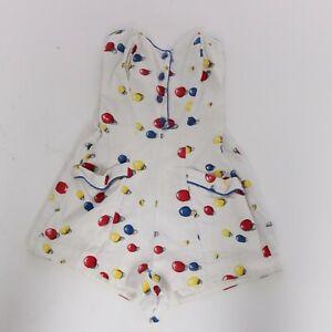 Vintage 1950s original novelty print cotton Val Phillips swimsuit playsuit XS S