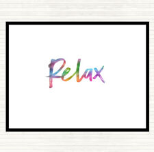 Bold Relax Rainbow Quote Dinner Table Placemat