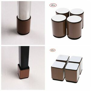 4Pcs Carbon Steel Bed Riser Furniture Foot Chair Leg End Pad Table Heighten Pad