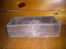 Vintage Wooden Walter Baker & Co. CHOCOLATE Shipping BOX / Est. 1790
