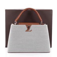 Casi -! nuevo! Louis Vuitton Bolso de Mano Cuero Lona con Mateo Capucines mm
