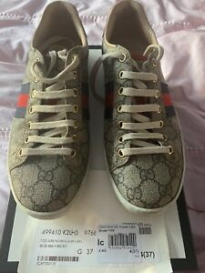 Stunning Authentic Gucci GG Ace Monogram Trainers. Size 4 (37)