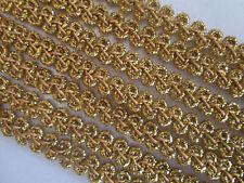 3 meter Spitze breit Borte Gold 5mm Elegante Nichtelastisch BB 732