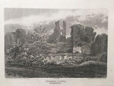 1807 Antique Print: Wigmore Castle, near Leominster, Herefordshire - J.K. Miller