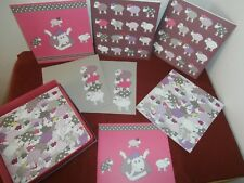 Set of Eight Bergere de France Blank Greeting Cards Wool Yarn Box