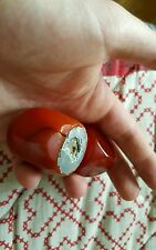 RED AMBER BAKELITE CATALIN DICE AND HANDLE VERY RARE FOR PRAYER BEADS