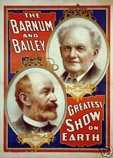 The Barnum And Bailey Greatest Show on Earth 7x5 Inch Reprint Poster Circus