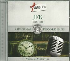 JFK 1917 - 1963 CD VOICES OF YESTERYEAR ORIGINAL RECORDINGS