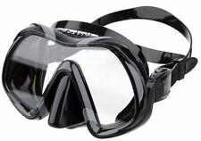 Atomic Aquatics Venom Scuba Dive Mask with Schott Ultra Clear Glass- BLACK BLACK