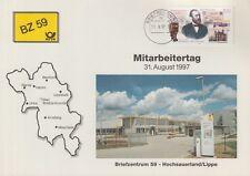 Scheda Heinrich von Stephan, mitarbeitertag BZ altamente Sauer paese/labbro (MiNr. 1912)