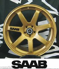 SAAB 6x ALLOY WHEEL DECAL STICKERS GRAPHICES CHOICE OF COLOURS FAST DISPATCH