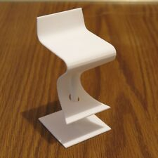 "SOMA Stool miniature 3D printed - strong and flexible white plastic 3.8"" tall"