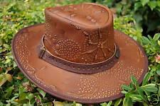 Overlander, Leather Hat, Embossed, Australian Design