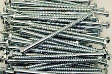 "(50) Hex Head 3/8 x 7"" Lag Bolts Zinc Plate Wood Screws"