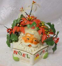 Vintage NAPCO Santa Noel Christmas Planter Japan Porcelain