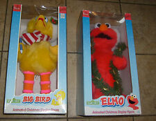 SESAME STREET ELMO & BIG BIRD CHRISTMAS ANIMATED MUPPETS TELCO MIB FREE S/H