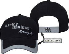 HARLEY DAVIDSON REFLECTIVE BASEBALL CAP NIGHT VISION HAT
